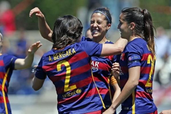 Sepak bola wanita Barcelona berusaha untuk menang di Champions